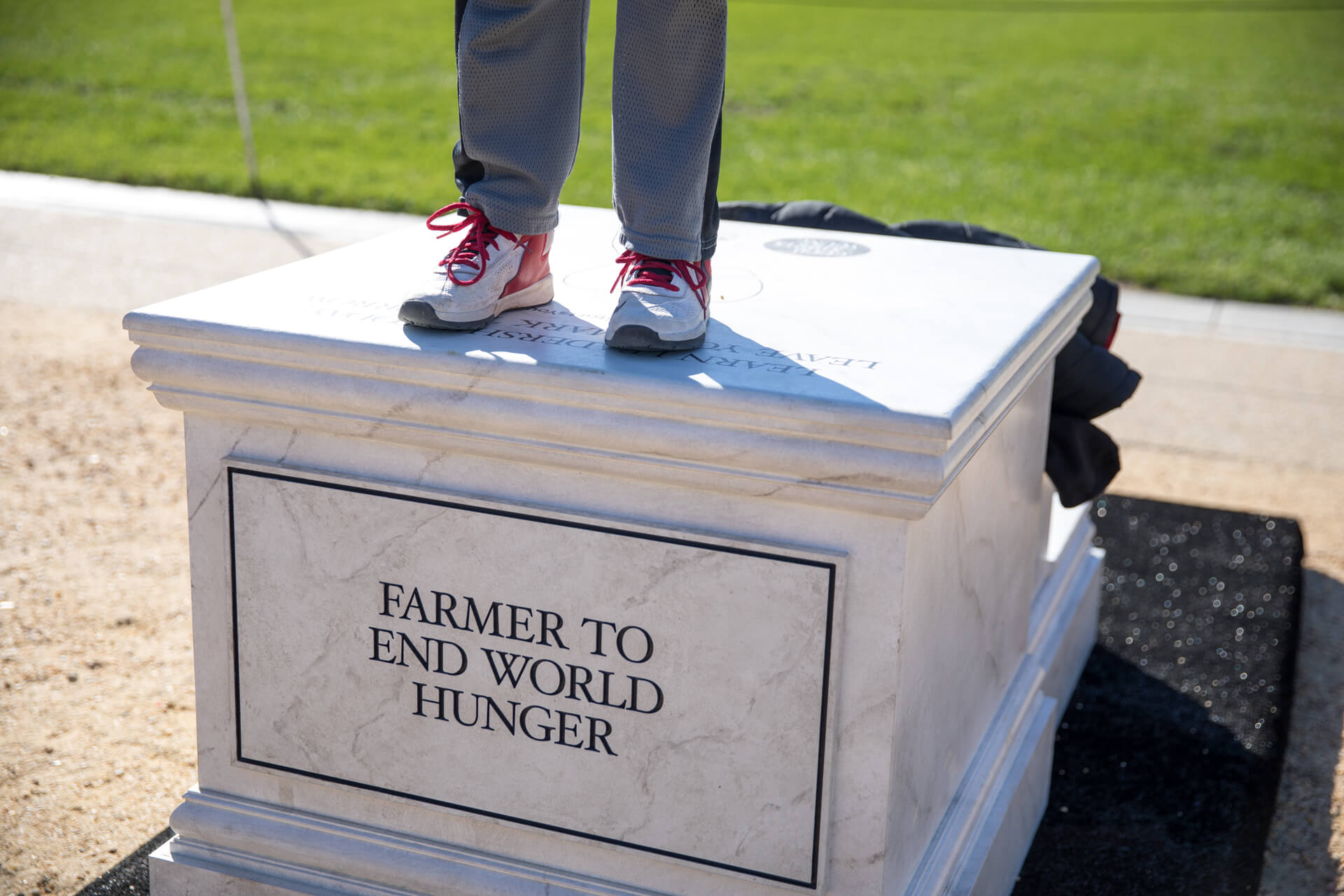 Good Starts Young Pedestals - Farmer to End World Hunger