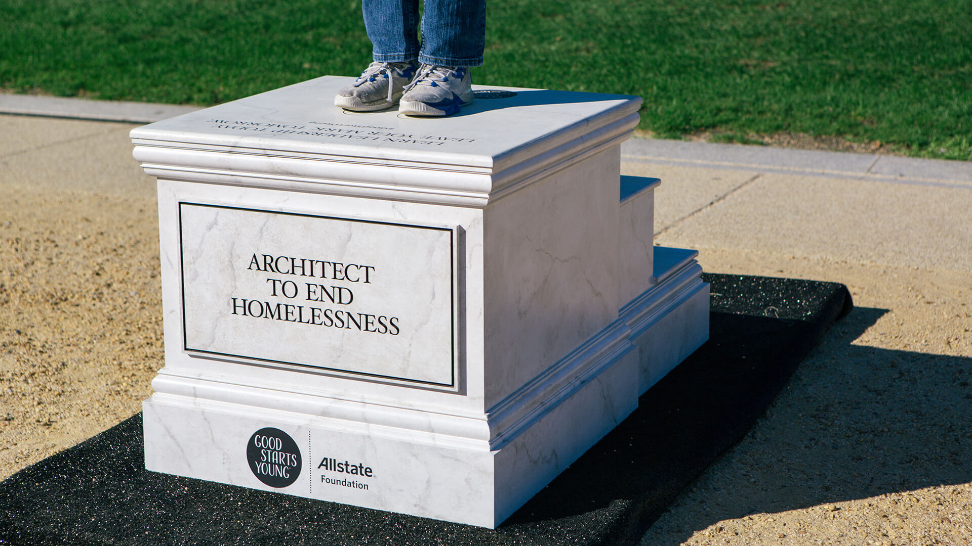 Good Starts Young Pedestals - Architect to End Homelessness
